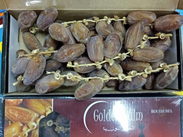Kurma Tunisia Tangkai Palm Fruit Golden