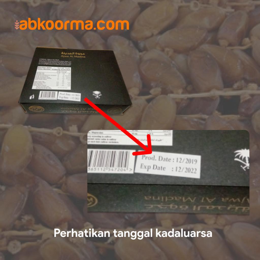 Perhatikan tanggal expired date atau kadaluarsa kurma
