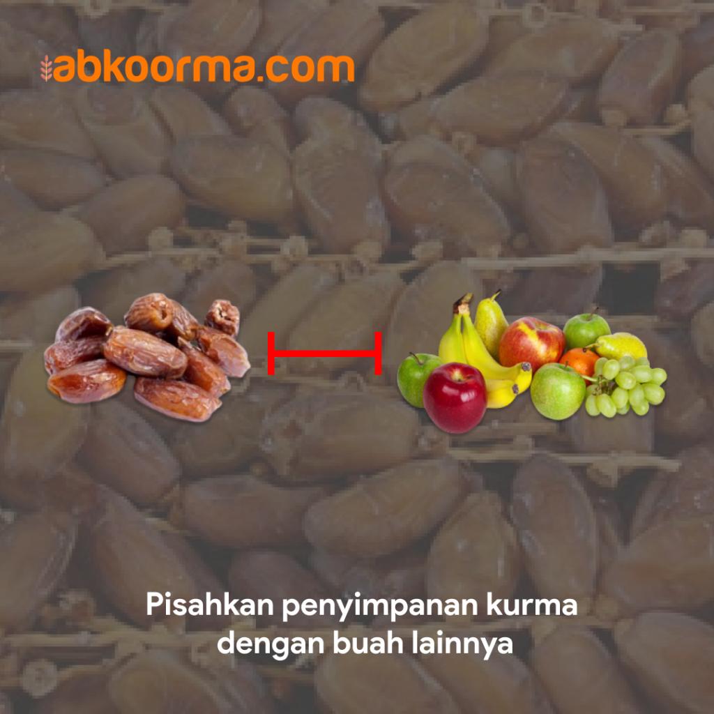 Sebaiknya pisahkan kurma dengan buah lain agar tidak mudah kutu
