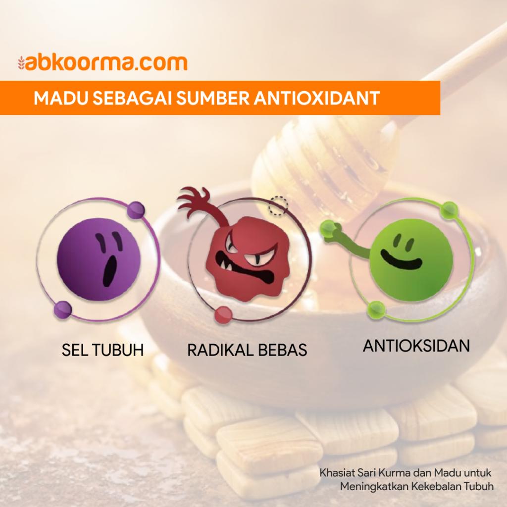 Madu bermanfaat sebagai antioksidan yang baik bagi tubuh - Khasiat Sari Kurma dan Madu untuk Meningkatkan Kekebalan Tubuh